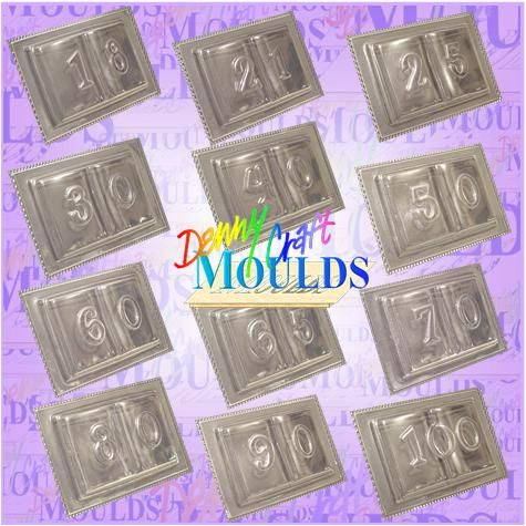 Open Book Chocolate Moulds with ages on them!